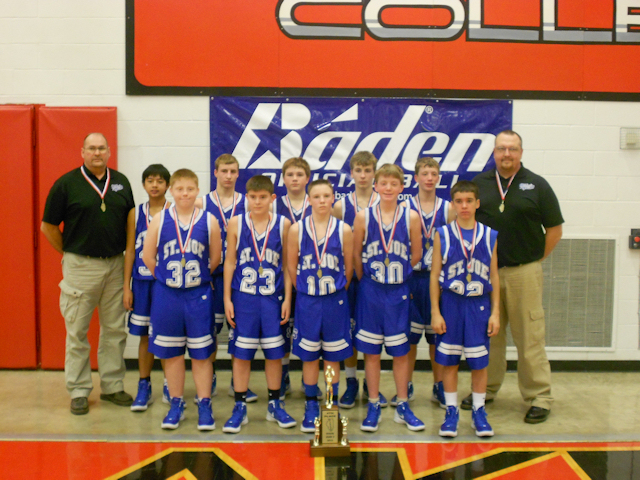 2012 - Class S Boys Basketball 4th Place - St.Joe-Olney