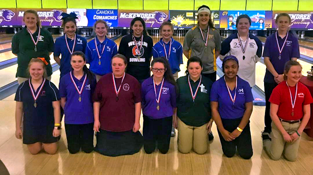 2019 Girls Bowling Top 15