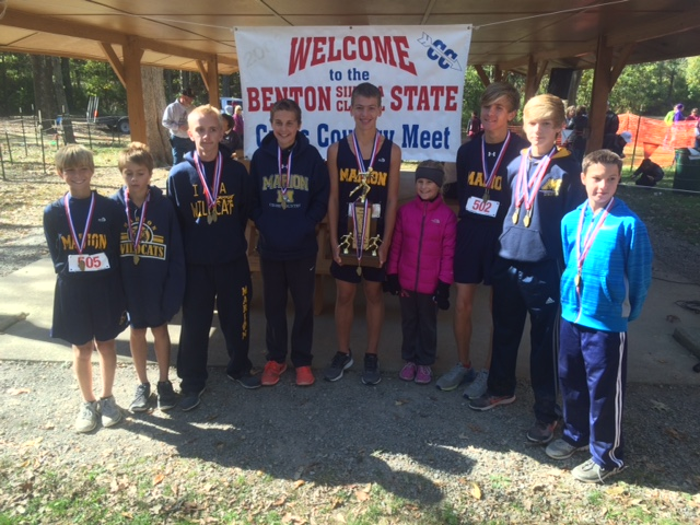 2015 Class L Cross Country Boys 2nd Place - Marion.IMG 1804