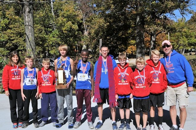 2015 Class S Cross Country Boys State Champions - Our Lady of Mt. Carmel Catholic School Herrin
