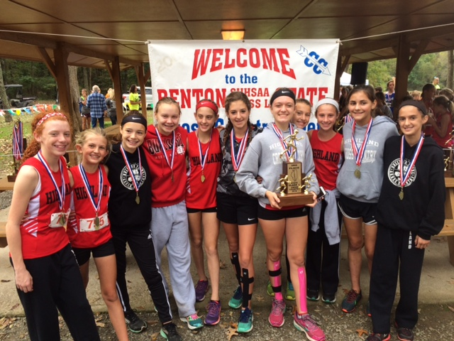 2016 Girls Class L Cross Country 3rd - Highland