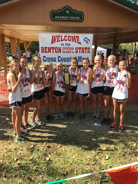 2017 Class L Girls Cross Country State Champions - Triad