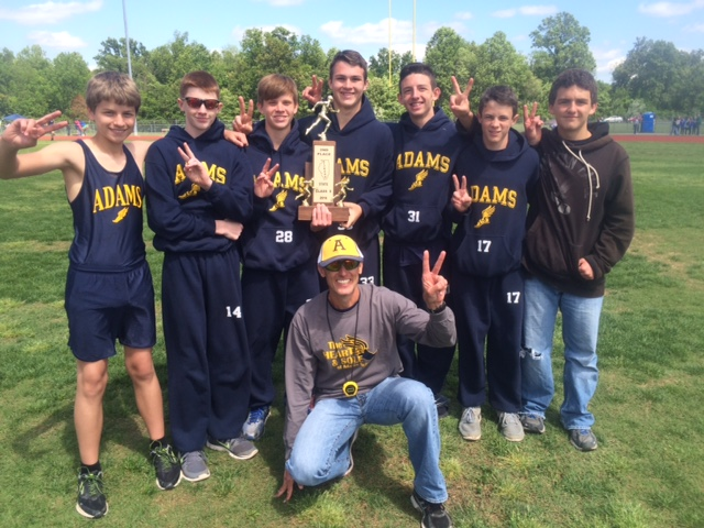 S boys track Adams School of Creal Springs 2nd