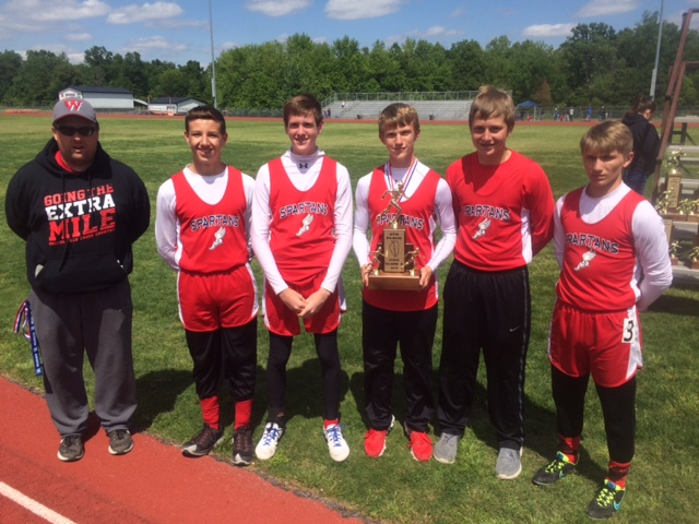 S boys track Waltonville 4th