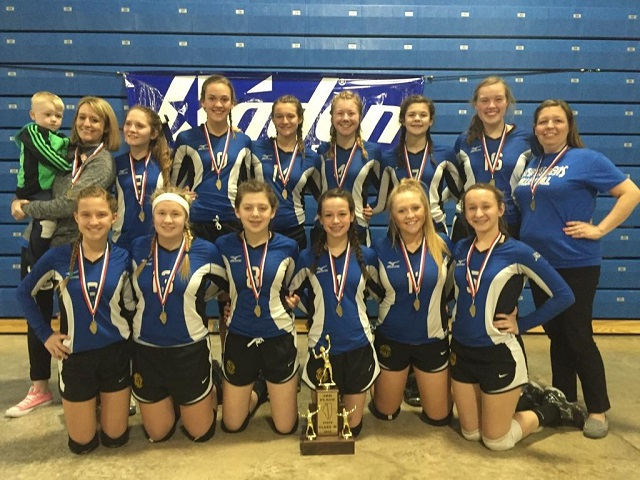 2016 Class M Volleyball 3rd Place New Athens
