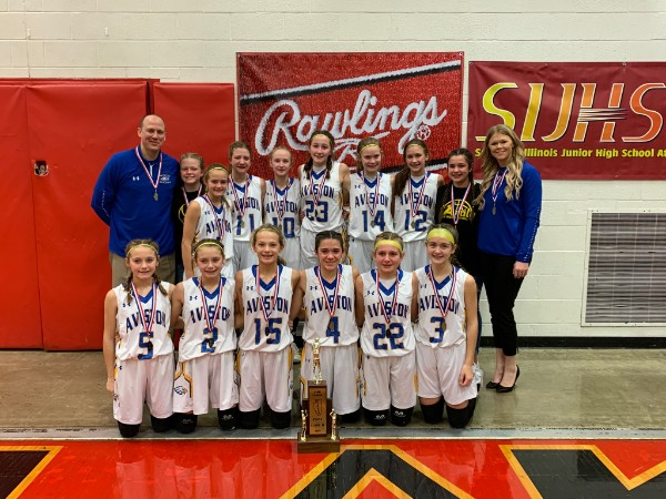 Class M Girls Basketball Aviston 2nd