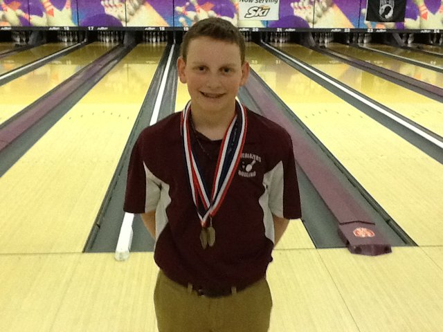 Boys Bowling Individual State CHamp Hayden Juenger-Collinsville