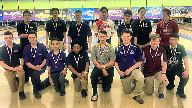 2019 Boys bowling Top 15