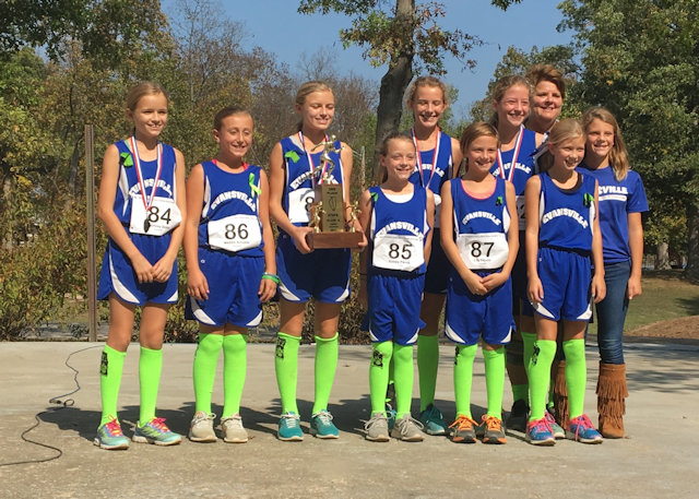 2017 Class S Girls Cross Country State 3rd Place - Evansville