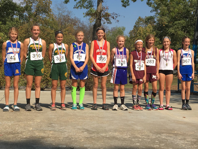 2017 Class S Girls Cross Country State Top 10 Individuals